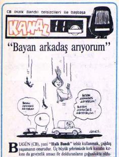 Milliyet Gazetesi arşivinden alınmıştır. telsiz haberi 01.05.1985